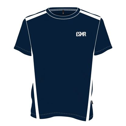 Picture of Two-tone round neck t-shirt (Navy and white)
